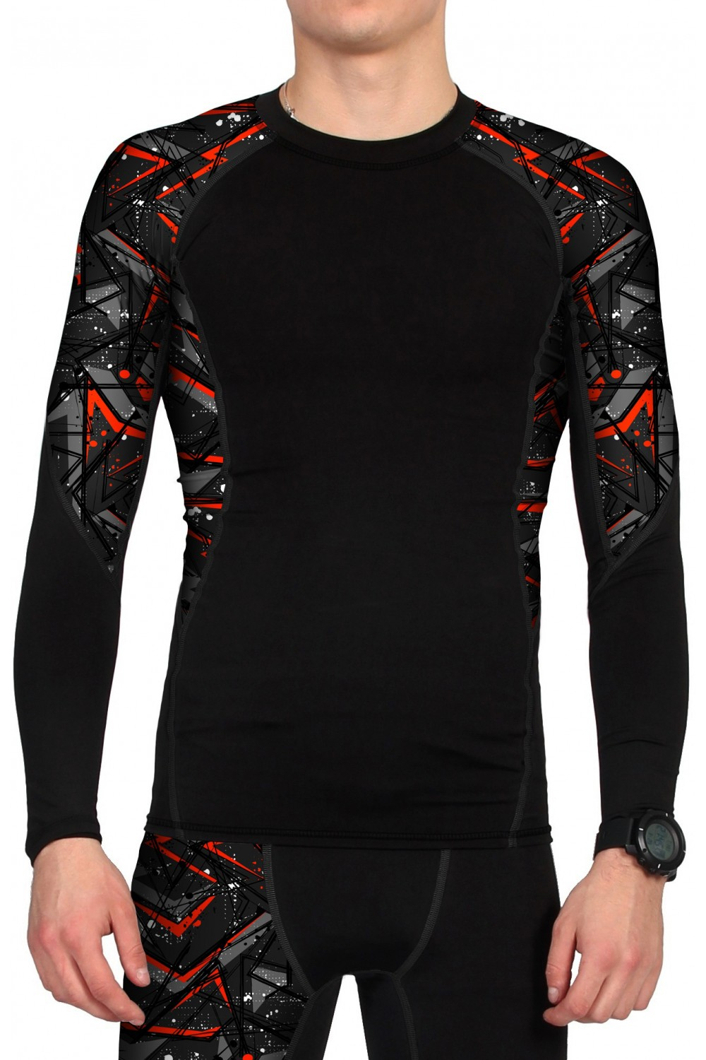 "Рашгард мужской спортивный ""Super Fit Compression"" арт. М4004"